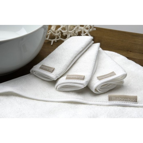 Towelling Wash Cloths (3 Pack) - Natural